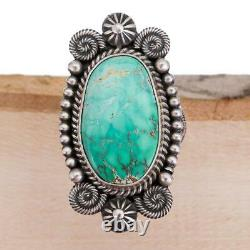 Native American Turquoise RING Sterling Silver Michael Calladitto 8 Old Vintage
