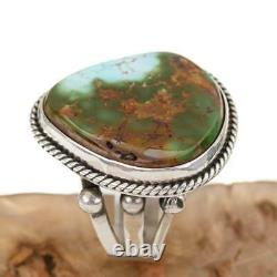 Native American Turquoise RING Sterling Silver PILOT MOUNTAIN Vintage sz 8
