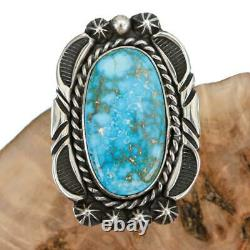 Native American Turquoise Ring Sterling Silver 6.5 Rick Werito Vintage old style