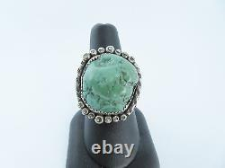 Native American sterling silver turquoise ring Roy Buck Navajo vintage jewelry