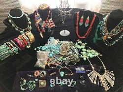 Native American western jewelry lot with authentic turquoise. Vintage to new