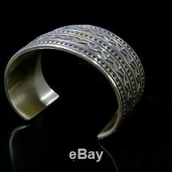 Navajo Cuff bracelet Vintage Large Silver Native American Indian Jewelry