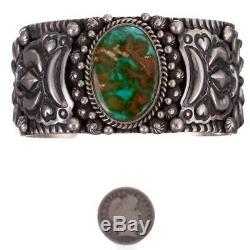 Navajo Turquoise Bracelet Royston HIDDEN EARTH Sterling Silver DARRYL BECENTI