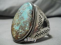Opulent Vintage Navajo Royston Turquoise Sterling Silver Bracelet