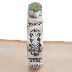 PAUL LIVINGSTON Turquoise Bracelet SONORAN GOLD Sterling Silver OLD PUEBLO STYLE
