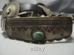 Quality Rare Vintage Navajo Sterling Silver Horse Bridle Headstall