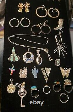 Resellers 80pc 2+lbs 925 Mexican Native American Southwest Vintage Jewelry Lot