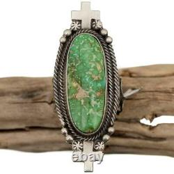 SHEILA TSO Turquoise Ring Old CROSS of SANTA FE Carico Lake Sterling Silver 9