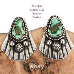 SONORAN GOLD Turquoise Earrings Sterling Silver ALBERT JAKE Native American