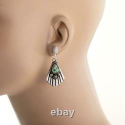 SONORAN GOLD Turquoise Earrings Sterling Silver ALBERT JAKE Native American. E