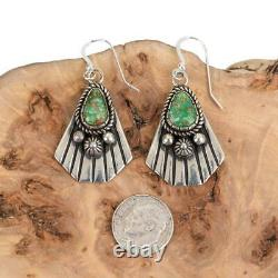 SONORAN GOLD Turquoise Earrings Sterling Silver ALBERT JAKE Navajo Old Style