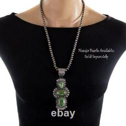 SQUASH BLOSSOM Necklace Pendant SONORAN GOLD Sterling Trained by Kirk Smith A+