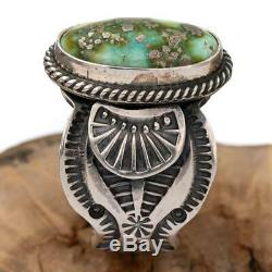 SUNSHINE REEVES Ring Sonoran Gold Turquoise Sterling Silver Native American 10
