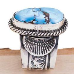 SUNSHINE REEVES Ring Turquoise GOLDEN HILL Sterling Silver Native American 7.5