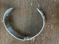 SUPERB OLD 1930s NAVAJO Coin Silver WHIRLING LOG THUNDERBIRD BRACELET M/F
