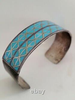 Signed Vintage Hopi Zuni Native Sterling Turquoise Bracelet JEWELRY Lot of 6