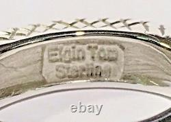 Signed Vintage Navajo Elgin Tom High Dome Sterling Silver Crisscross Ring Size 6