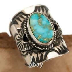 Sonoran Gold Turquoise Ring Sterling Silver Native American DERRICK GORDON 7