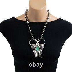 Squash Blossom Necklace Pendant BUTTERFLY Brooch Joe Eby XXL HUGE Big SHOW