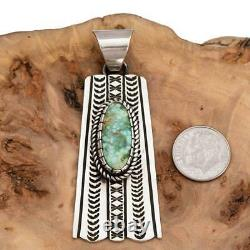 Squash Blossom Turquoise Necklace Pendant ALBERT JAKE SONORAN GOLD Old Pawn Styl