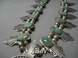 The Best Vintage Navajo Thomas Singer Sterling Silver Squash Blossom Necklace