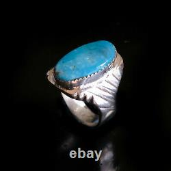Turquoise Ring Vintage Style Silver Native American Indian Jewelry Navajo