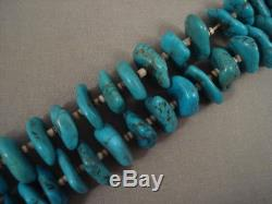 Uniqaue And Old! Vintage Navajo/ Santo Domingo Turquoise Jacla Heishi Necklace