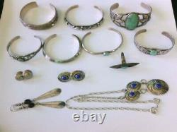 VINTAGE Native American Signed/Unsigned Mixed Silver 925 Jewelry. BUY NOW