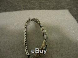 VINTAGE R. WYLIE NAVAJO STERLING & TURQUOISE WOMENS CUFF BAND WithWATCH NEW BATT