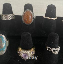 VintageNow Sterling Silver 925 Jewelry Ring Lot Native American Silpada Taxco