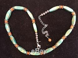 Vintage Estate Sterling Silver Turquoise Kingman Relios Signed Carolyn Pollack