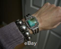 Vintage Fred Harvey Era Navajo Native American Sterling Silver Bracelet