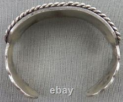 Vintage Heavy Navajo Turquoise & Sterling Bracelet