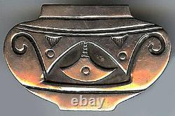 Vintage Hopi Indian Decorative Silver Urn Or Pot Pin Brooch