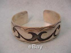 Vintage Hopi Sterling Cuff Bracelet