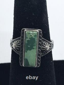 Vintage Mid Century Native American Handmade Jewelry Bracelet And Ring Size 7