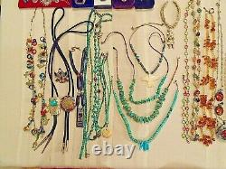 Vintage Native American, Russian, Mexican, Silver and Gold Jewelry Lot