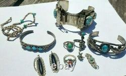 Vintage Native American Sterling Jewelry Lot! Signed Black Hawk, P, & Others