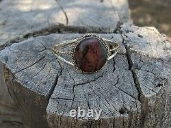 Vintage Navajo Cuff Bracelet Chrysocolla hand made Native American Jewelry