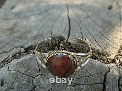 Vintage Navajo Cuff Bracelet Chrysocolla hand made Native American Jewelry 6.75
