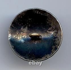 Vintage Navajo Indian Sterling Silver Turquoise Button