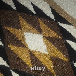 Vintage Navajo Rug Native American Indian Weave Intricate Piece Blanket Jewelry