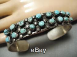 Vintage Navajo Sterling Silver Native American Turquoise Bracelet