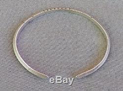 Vintage Navajo Sterling Silver Southwest Carinated Filed Cuff Bracelet Large