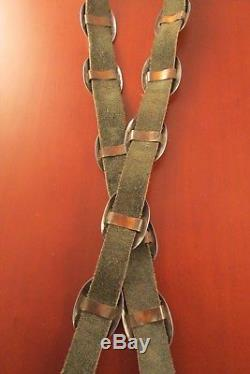 Vintage Southwest Concho Belt With 13 Conchos And Belt Buckle Sterling