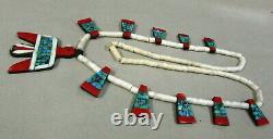 Vintage Southwest Depression Era Thunderbird Tab necklace
