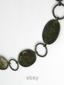 Vintage Sterling Sidney Arawnaya Hopi Pictoral Concho Belt 120g M290