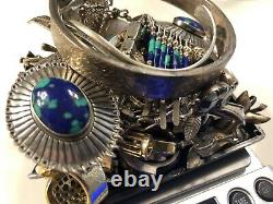 Vintage Sterling Silver Native Americanmexico Jewelry Lotunder Melt1 Day