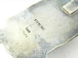 Vintage Sterling Silver Tom Willeto Navajo Kingman Turquoise Pendant 12.3g B2