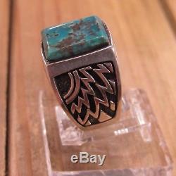 Vintage Sterling Silver Turquoise Men's Ring